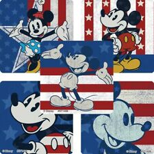 20 Mickey Mouse 4th of July Flag STICKERS Party Favors Supplies USA America