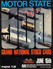MOTOR STATE GRAND NATIONAL STOCK CARS MICHIGAN INT.SPEEDWAY JUNE 15 1970 PROGRAM