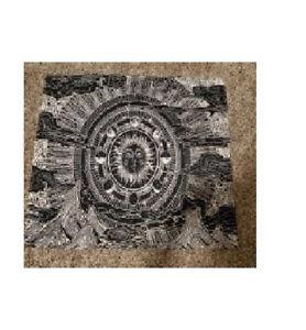 Black Poster Mandala Tapestry Wall Indian Decor Hippie Golden Lotus Flower