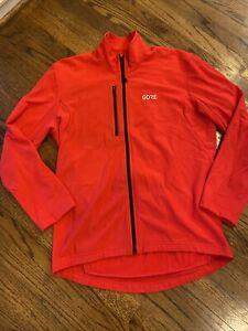 Gore Bike Wear Thermal Fleece  Cycling Jacket full zip  mens Size XL red LKNU