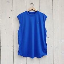 Nike Mens Cobalt Blue Sleeveless Top Workout Shirt Size Large L