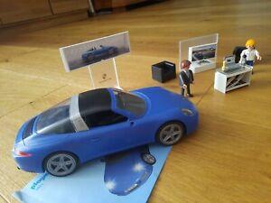 Playmobil ♡Porsche blau♡ mit Beleuchtung