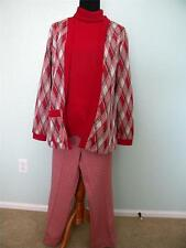 Vtg Ugly Xmas Sweater Party Polyester Womens Suit Plaid Red Green, Cousin Eddie