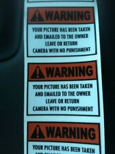 Trail Camera Security Stickers 8 Pack