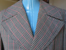 VINTAGE Aquascutum London Made Canada Houndstooth 38 to 40 Water Resistant Coat