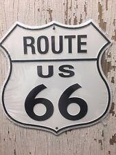 "US Route 66 ~~11"" Metal shield/sign ~~ Garage, Mancave, Wall, Car, Truck, Hotrod"