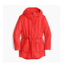 J. CREW Prefect Rain Jacket Bright Cerise MT Medium Tall NWT