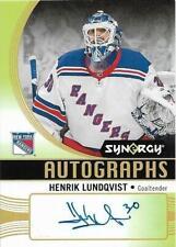 2018-19 UPPER DECK SYNERGY AUTOGRAPHS #A-HL HENRIK LUNDQVIST