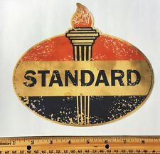 Standard Gasoline Decal-AGED--Gas Cans, Oil Cans, Rat Rods