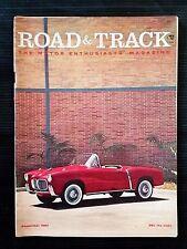 Road & Track Sept 1957 - Lotus Sports - Fiat 1100 - Judson-VW - Volvo PV-444-L