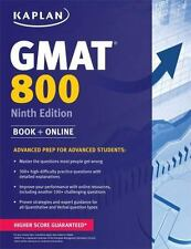 Kaplan GMAT 800 with Access Code: Advanced Prep for Advanced Students (Paperback
