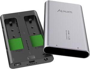 New - Dual Bay NVMe Docking Station, Alxum M.2 PCIe NVMe SSD Enclosure w/ Duplic
