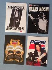 4 VINTAGE UNCIRCULATED MICHAEL JACKSON PEPSI DANGEROUS TOUR CARDS 1992