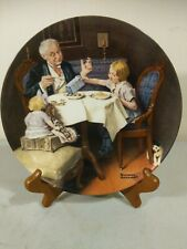 "Knowles collector plates Norman Rockwell ""The Gourmet�"