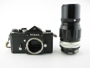 Nikon F Eyelevel SLR schwarz black + Nikkor-Q Auto 1:4 f=200mm