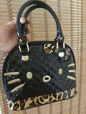 Hello Kitty Leopard Kitty Face Mini Dome Handbag. Preowned.