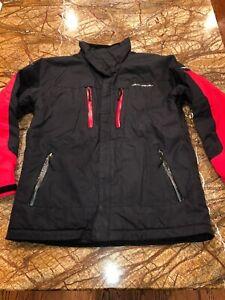 Obermeyer Juniors/Boys Sz 16 Insulated Ski/Snowboard Jacket (No Hood) ~Red/Black