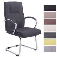 Chaise visiteur BASEL V2 fauteuil tissu métal luge oscillante accoudoirs salon