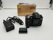 Nikon D70 6.1 MP Digital SLR Camera - Body, Charger,  Battery- With Box - Works