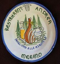 BUON RICORDO PLATE SOLIMENE VIETRI ITALIAN CERAMIC MERANO PROSCIUTTO 1975