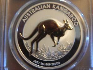 2017-P 1 oz. $1 Australia Gilt Kangaroo Reverse Proof PCGS PR70 1st Strike