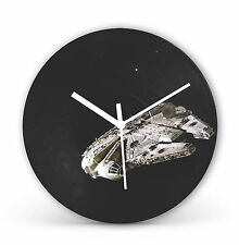 "Star Wars Millennium Falcon 12"" LP Vinyl Record Clock Canvas Gift Present cl14"