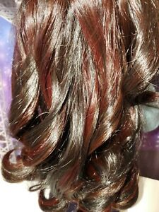 "WIG NEW ESPRESSO -Warm Rich Browns EDD OOAK Designer 11"" for American Girl Doll"