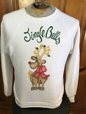 UGLY Christmas Sweater Vintage Jingle Bells Tacky Party Reindeer Size Large
