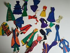 Hand Colored Clothing for Paper Dolls Set Vintage No Doll
