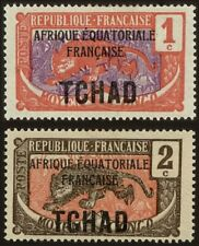 EBS French Chad Tchad 1924 Leopard TD 19-20 MNH**
