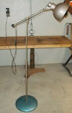 Vintage Mid century Articulated Industrial floor lamp light machine age Space Ag