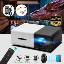 1080P HD LED Projector Home Theater Cinema HDMI-Input USB Multimedia Lot