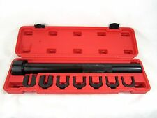 Inner Tie Rod Wrench Remover Removal Crowsfoot Tool with 7 Adapters + Case