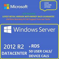 Windows Server 2012 R2 Datacenter + RDS 50 User Cals / 50 Device Cals+ESD+Top⭐