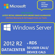 Windows Server 2012 R2 Datacenter + RDS 50 User Cals / 50 Device Cals+ESD+Top⭐