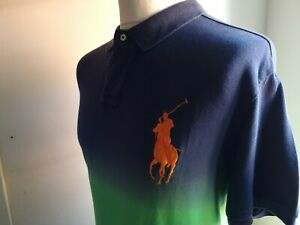 Ralph lauren big pony polo shirt ,blue/yellow/green sizexxl