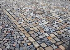Pflastersteine gebraucht, bunt, Granit u. a., Großpflaster herbstlaub, 25 t