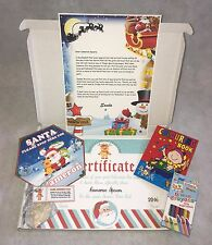 Letter From Santa Personalised Christmas Parcel Box Nice List Certificate & More