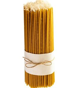 Pure Beeswax Church Candles - Dipper Tapered - Handmade Pure Bees Wax Candles