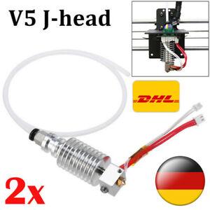 2X V5 J-head Hot End 0.4mm / 1.75mm für Anycubic I3 Mega 3D Drucker Extruder