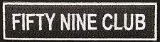 59 Text Patch, Fifty Nine, Cafe Racers, Motorcycle, ton up