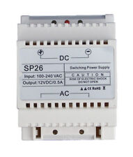 12 Volt DC, 0.5 Amp DIN Rail Mounted Power Supply, Ideal for Access Control