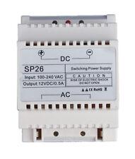12 Volt DC, 0.5 amp montaggio su guida DIN Alimentatore, ideale per il controllo di accesso