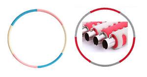 Hula Hoop Reifen Fitness Gymnastikreifen Stainless Metall Schaumstoff bis 4Kg