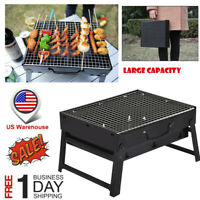 Folding BBQ Charcoal Grill Portable Lightweight Barbecue Camping Hiking Picnics