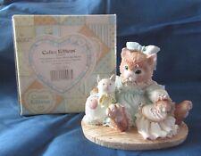 Calico Kittens Friendship Is Sewn #627933 Priscilla Hillman 1992 Figurine