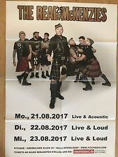 THE REAL McKENZIES 2017 TOUR  + orig.Concert Poster - Konzert Plakat A1  F/N