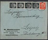 Deutsches Reich, MiNr. 512 + 517 MiF Dessau 13.01.1936