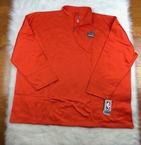 NBA Phoenix Suns Majestic 1/4 Zip Layering Pullover Jacket Orange Big & Tall 5XL