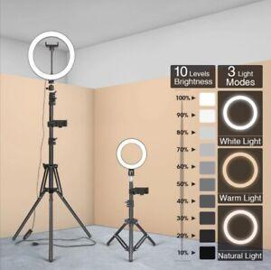 LED Beauty Salon Lamp Floor LED Light w/ Phone Holder Eyelash Extension Lamp